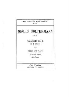 Cello Concerto No.3 in B Minor, Op.51: Version for cello and piano by Georg Goltermann