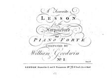 Sonata for Piano (or Harpsichord) No.1 in G Major: Sonata for Piano (or Harpsichord) No.1 in G Major by William Goodwin