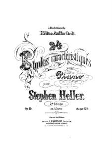 Twenty-Four Characteristic Etudes, Op.90: Etudes No.1-12 by Stephen Heller