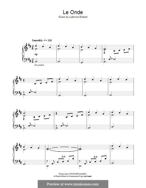 Le Onde: For piano by Ludovico Einaudi