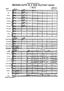 Two Suites for Military Band, Op.28: Suite No.2 – full score by Gustav Holst