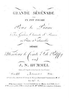 Grand Serenade No.2, Op.66: Parts by Johann Nepomuk Hummel