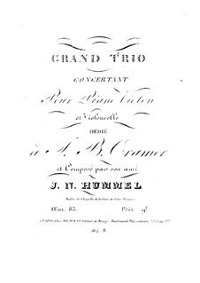 Piano Trio No.6 in E Major, Op.83: Parts by Johann Nepomuk Hummel