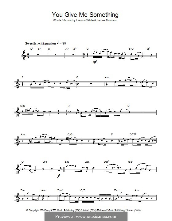 You Give Me Something: For flute by Eg White, James Morrison
