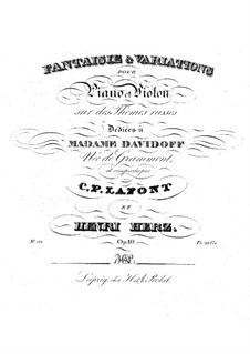Fantasia and Variations, Op.19: Fantasia and Variations by Charles Philippe Lafont