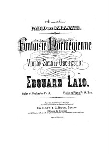 Norwegian Fantasia: For violin and piano by Édouard Lalo