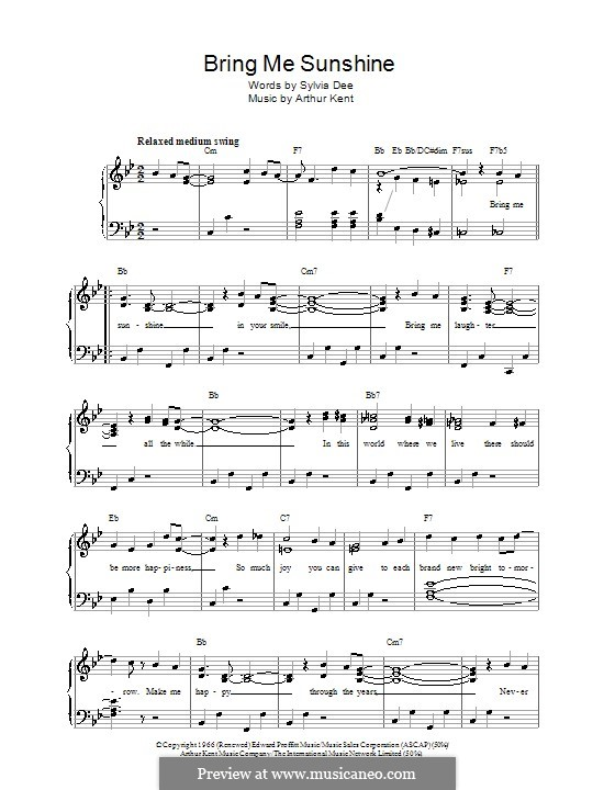 walking on sunshine piano sheet music pdf