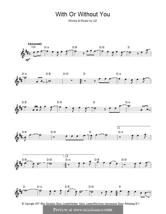 With or without You: For flute by U2