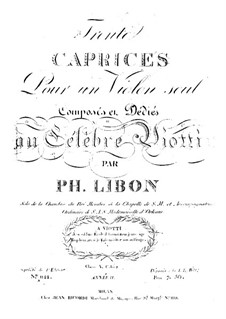 Thirty Caprices for Violin, Op.15: Thirty Caprices for Violin by Felipe Libon