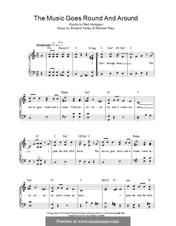 The Music Goes Round and Around (Tommy Dorsey): For voice and piano by Edward Farley, Michael Riley