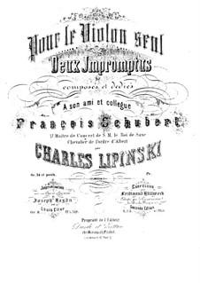 Two Impromptus for Violin, Op.34 (posth.): Two Impromptus for Violin by Karol Józef Lipiński