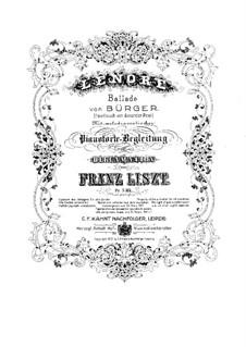 Lenore, S.346: Full score by Franz Liszt