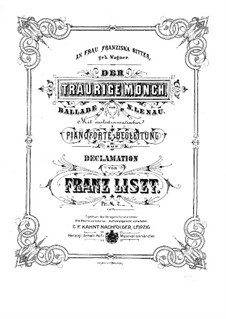 Der Traurige Mönch, S.348: Der Traurige Mönch by Franz Liszt