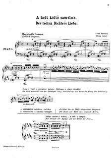 Dead Poet's Love, S.349: Dead Poet's Love by Franz Liszt