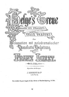 Helges Treue, S.686: Helges Treue by Franz Liszt