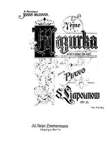 Mazurka No.7, Op.31: Mazurka No.7 by Sergei Lyapunov