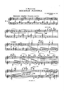Mazurka No.8, Op.36: Mazurka No.8 by Sergei Lyapunov