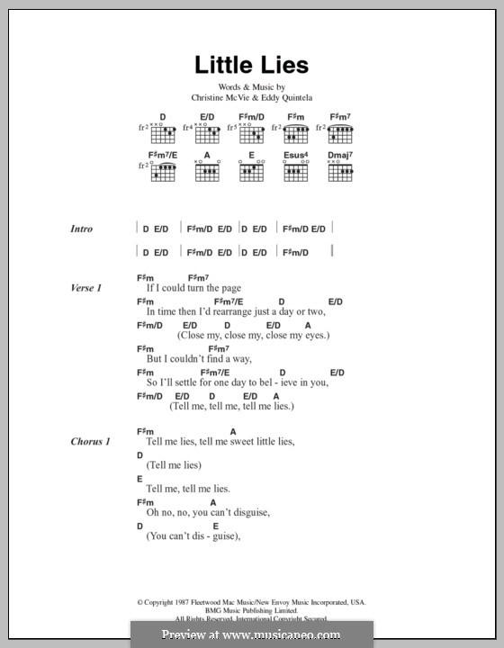 Little Lies (Fleetwood Mac): Lyrics and chords by Christine McVie, Eddy Quintela