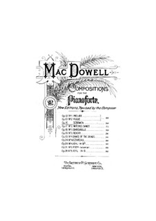 Serenade, Op.16: For piano by Edward MacDowell
