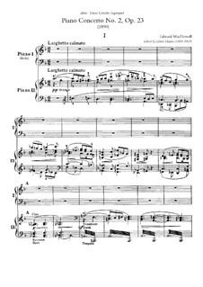 Piano Concerto No.2, Op.23: Piano score by Edward MacDowell