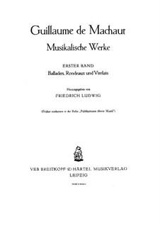 Ballades: Complete set by Guillaume de Machaut