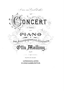Piano Concerto, Op.43: Arrangement for two pianos by Otto Malling