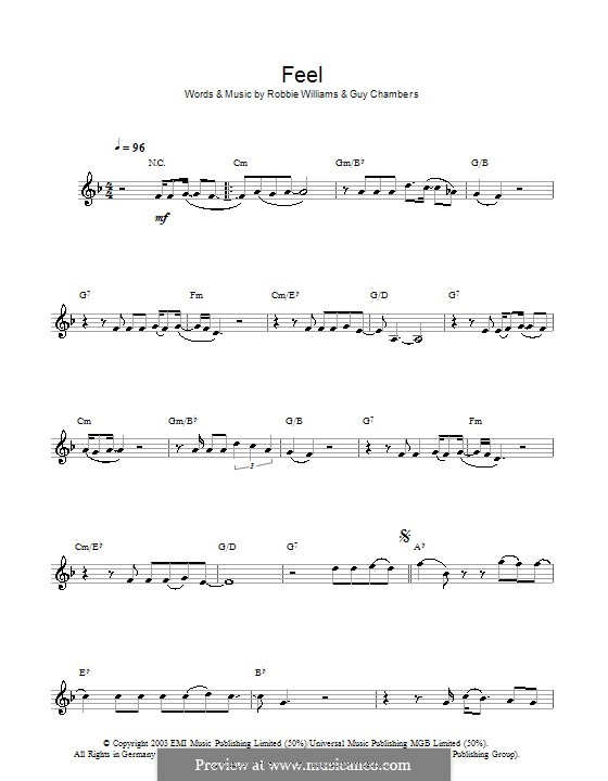 Feel: For clarinet by Guy Chambers, Robbie Williams