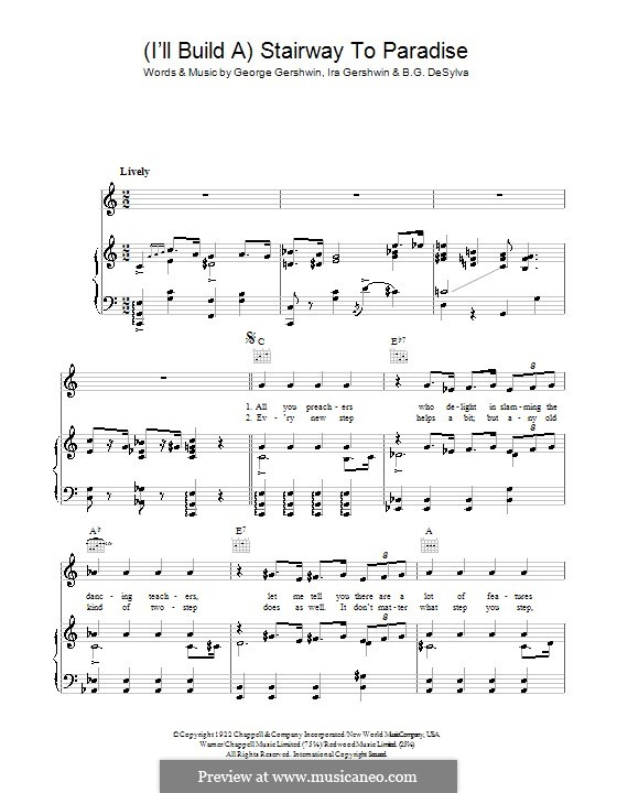 I'll Build a Stairway to Paradise: For voice and piano (or guitar) by George Gershwin