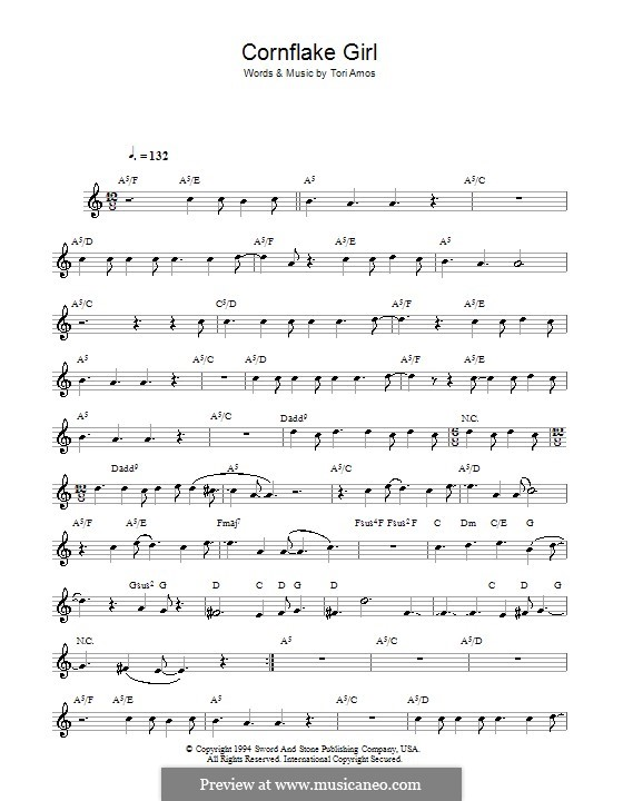 Cornflake Girl: For flute by Tori Amos