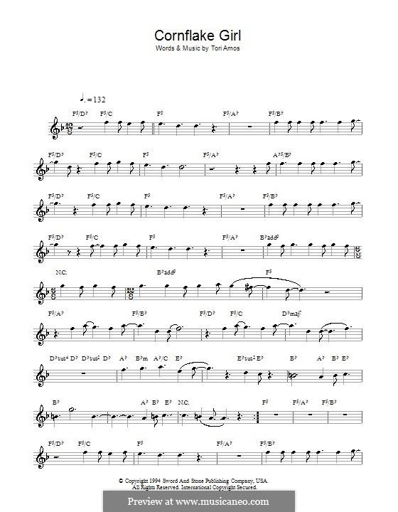 Cornflake Girl: For saxophone by Tori Amos