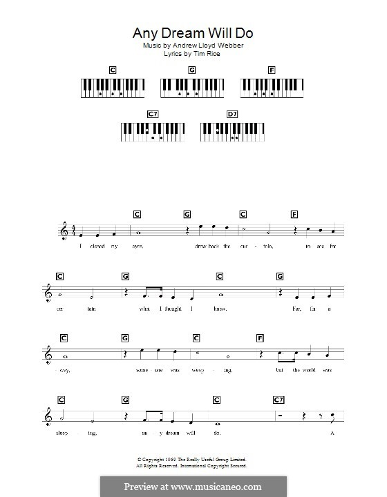 Any Dream Will Do: For keyboard by Andrew Lloyd Webber