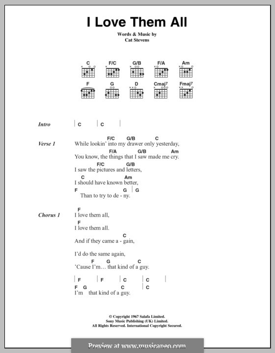 I Love Them All By C Stevens Sheet Music On Musicaneo