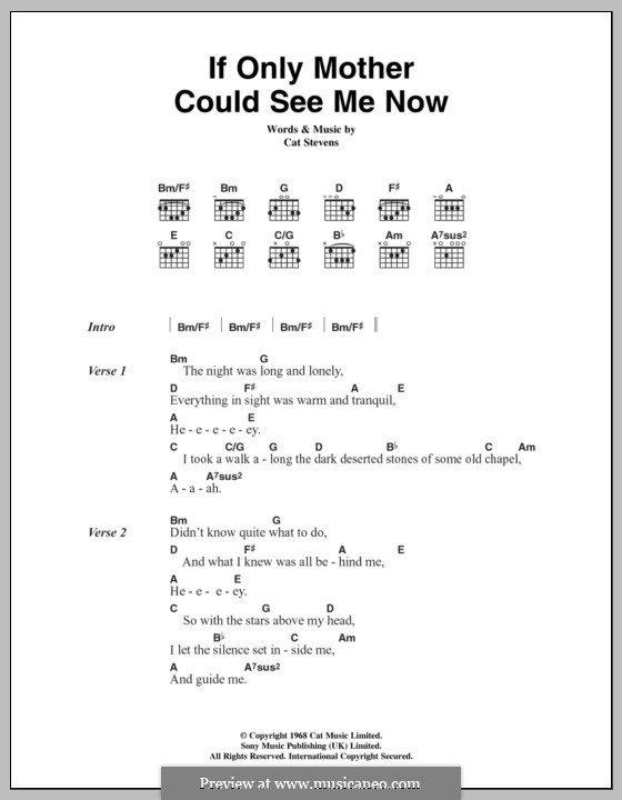 If Only Mother Could See Me Now By C Stevens Sheet Music On Musicaneo