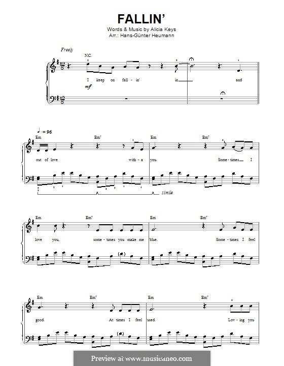 Fallin': For voice and piano by Alicia Keys