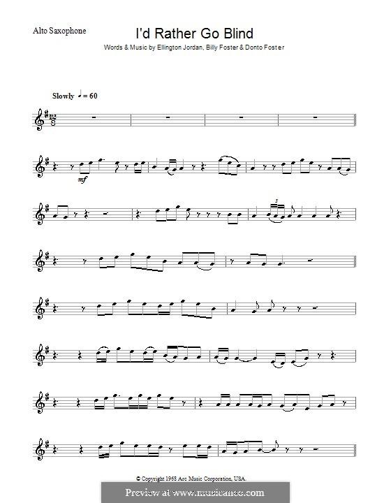 I\'d Rather Go Blind (Etta James) by B. Foster, D. Foster, E. Jordan ...