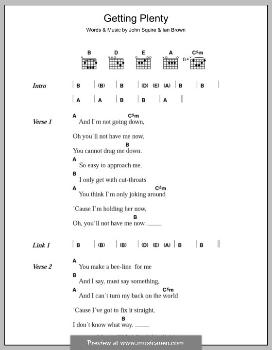 Getting Plenty (The Stone Roses): Lyrics and chords by Ian Brown, John Squire