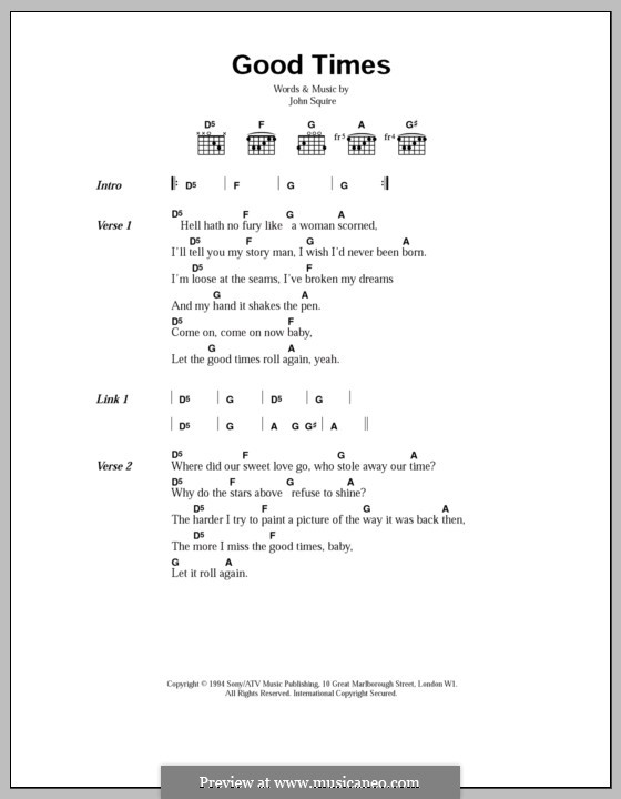 Good Times (The Stone Roses): Lyrics and chords by John Squire