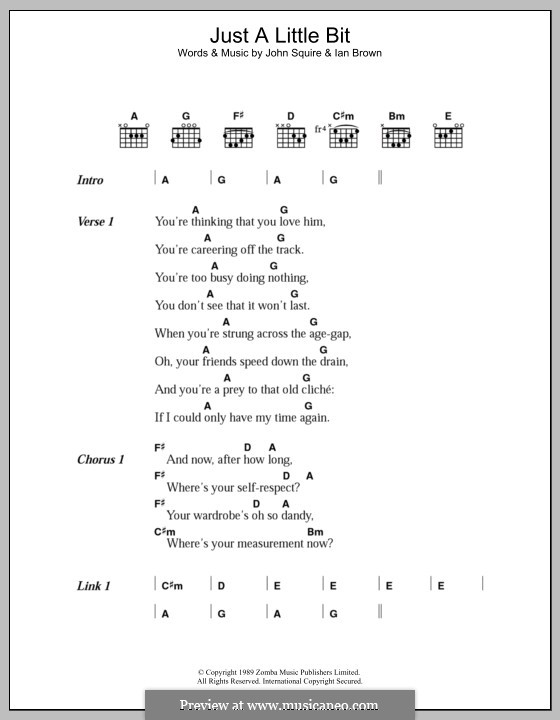 Just a Little Bit (The Stone Roses): Lyrics and chords by Ian Brown, John Squire