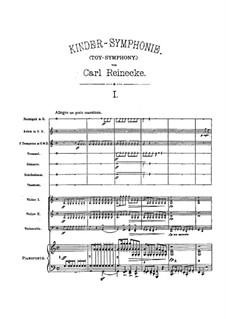 Toy-Symphony, Op.239: Full score by Carl Reinecke