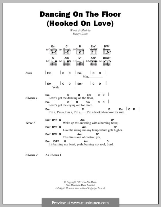 Dancing on the Floor (Hooked on Love): Lyrics and chords (Third World) by Bunny Clarke