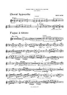 Choses vues à droite et à gauche: Choses vues à droite et à gauche by Erik Satie