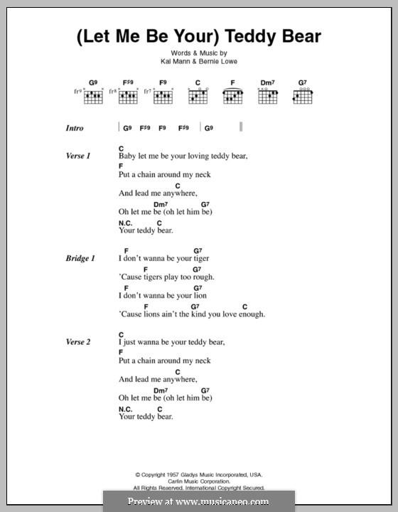 (Let Me Be Your) Teddy Bear (Elvis Presley): Lyrics and chords by Bernie Lowe, Kal Mann