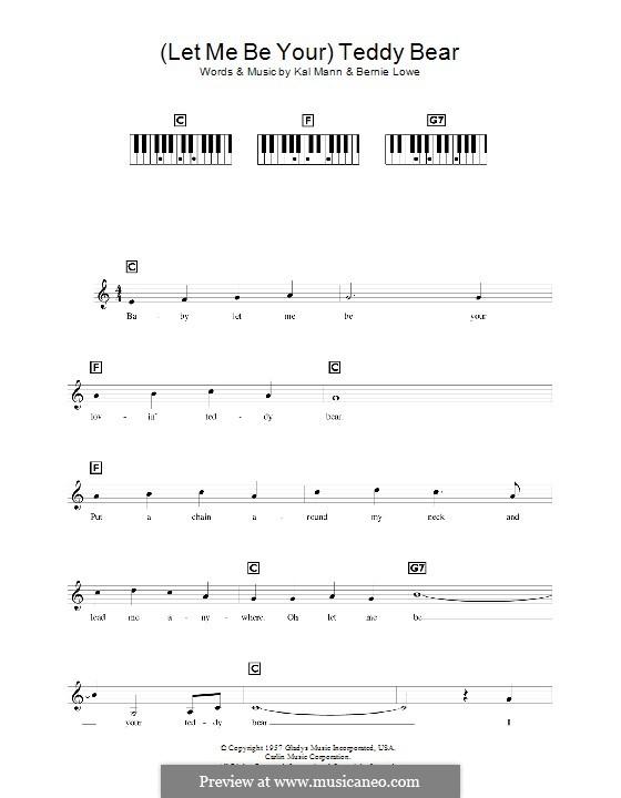 (Let Me Be Your) Teddy Bear (Elvis Presley): For keyboard by Bernie Lowe, Kal Mann