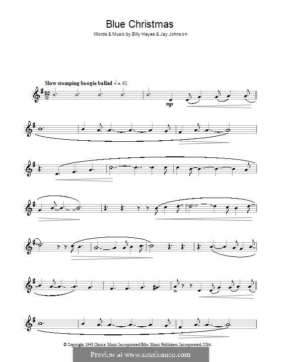 Blue Christmas: For clarinet by Billy Hayes, Jay Johnson