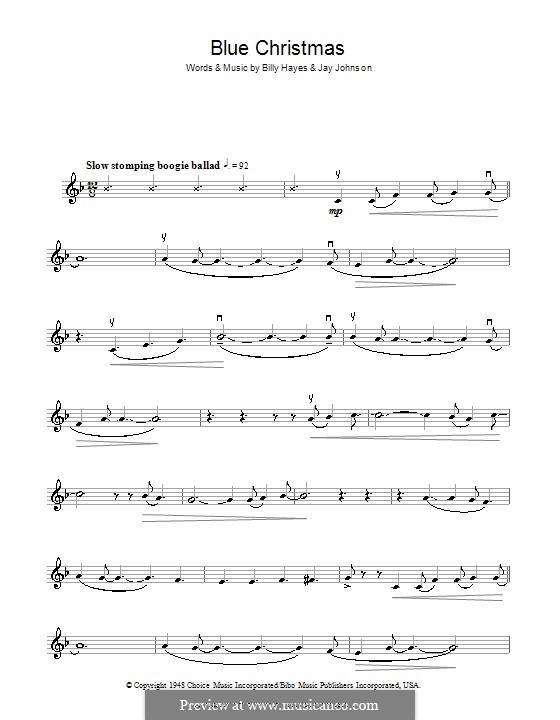 Blue Christmas: For violin by Billy Hayes, Jay Johnson