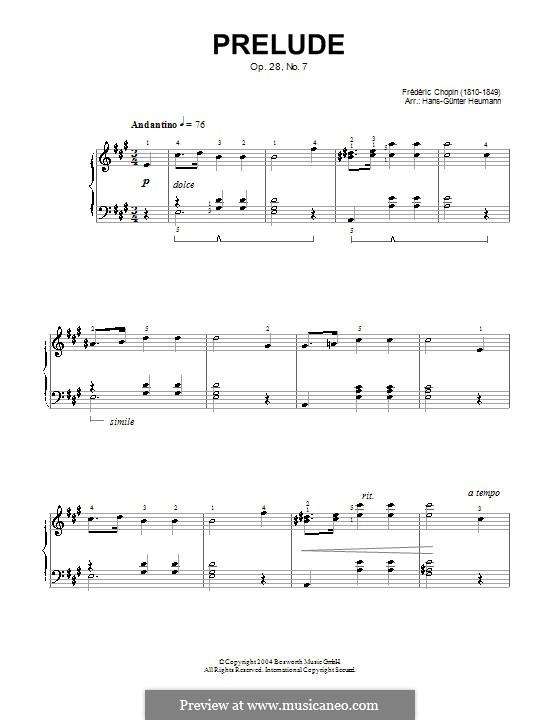 No.7 in A Major: Version by Hans-Günter Heumann by Frédéric Chopin