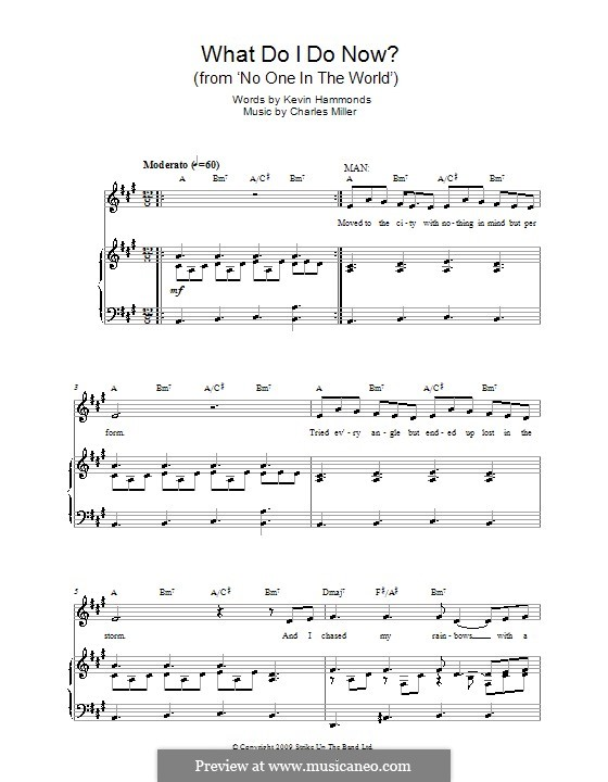 What Do I Do Now? (from No One in the World): For voice and piano by Charles Miller