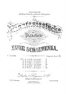 Six Fantastic Pieces, Op.50: Complete set by Xaver Scharwenka
