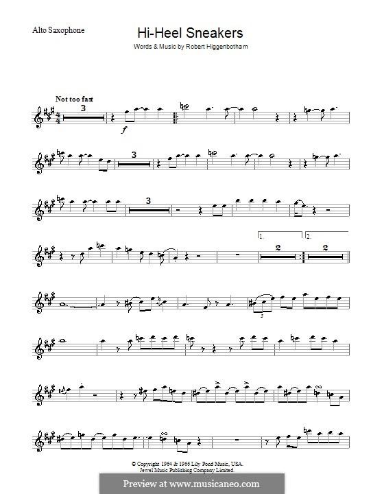 Hi-Heel Sneakers (Tommy Tucker): For saxophone by Robert Higginbotham