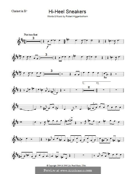 Hi-Heel Sneakers (Tommy Tucker): For clarinet by Robert Higginbotham